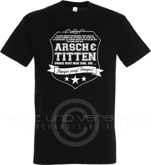 "Produktabbildung ""A&T - Finger weg!"" T-Shirt"